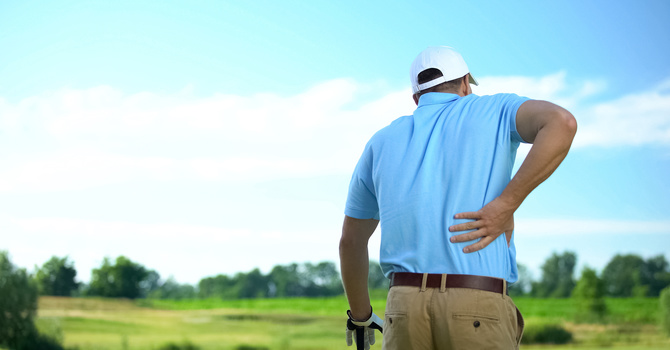 Pain while Golfing
